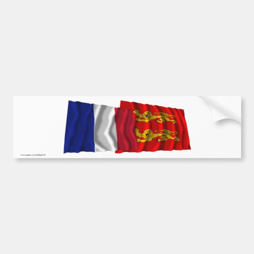 France & Basse-Normandie waving flags Bumper Sticker