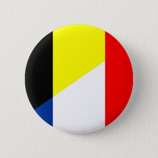 france belgium flag country symbol flag 6 cm round badge