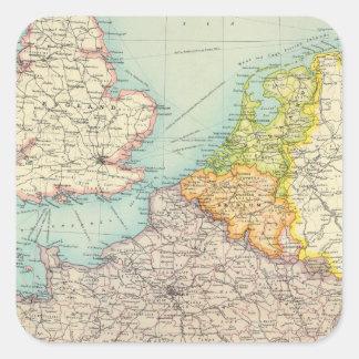 France, Belgium & Holland political Square Sticker