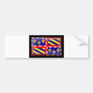 France-Bourgogne Flag Bumper Sticker
