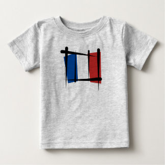 France Brush Flag Baby T-Shirt