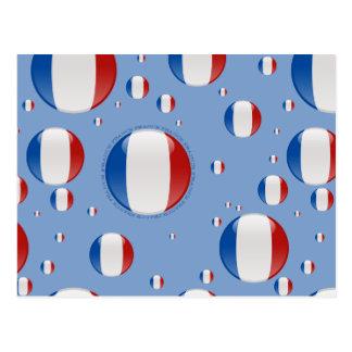 France Bubble Flag Postcard