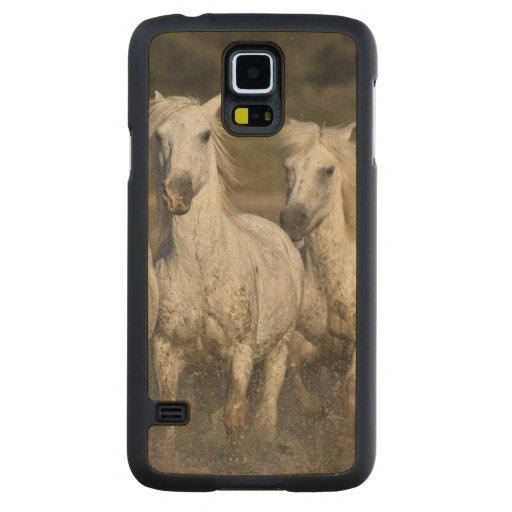 France, Camargue. Horses run through the 2 Carved® Maple Galaxy S5 Case