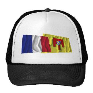 France Cantal waving flags Mesh Hats