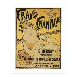 France-Champagne Postcard
