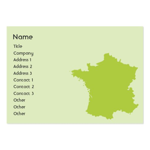 France - Chubby Large Business Cards (Pack Of 100)