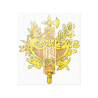 France Coat Of Arms Gallery Wrapped Canvas