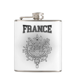 France Coat of Arms Hip Flask