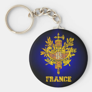 France Coat of Arms Key Ring