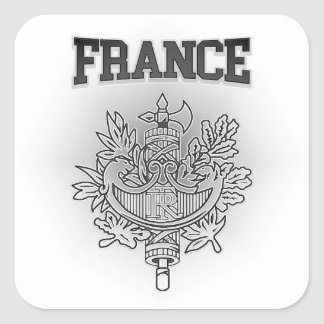 France Coat of Arms Square Sticker