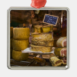 France, Corsica. Local cheeses and charcuterie Metal Ornament