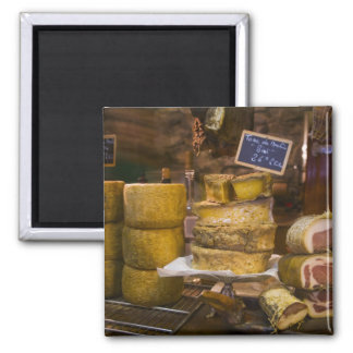 France, Corsica. Local cheeses and charcuterie Square Magnet