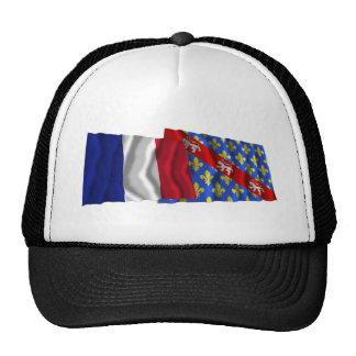 France Creuse waving flags Mesh Hats