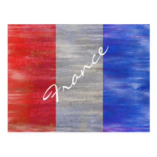 France distressed French flag Postcard
