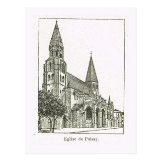 France Eglise de Poissy Post Card