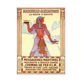 France Egypt Restored Vintage Travel Poster Canvas Print