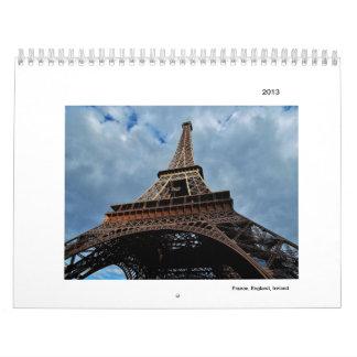 France, England, Ireland Calendars