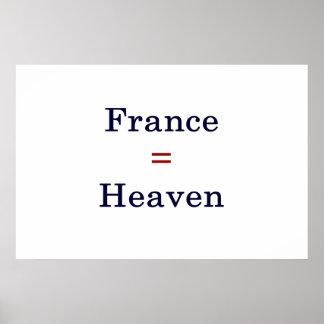 France Equals Heaven Poster