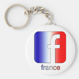 France Facebook Logo Unique Gift Template Keychains