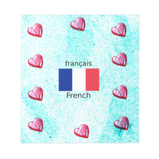 France Flag And French Language Design Notepad