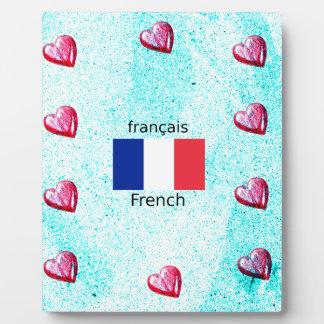 France Flag And French Language Design Plaque
