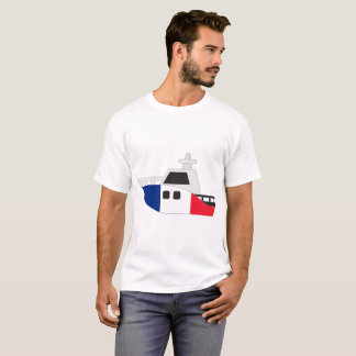 France Flag Boat T-Shirt