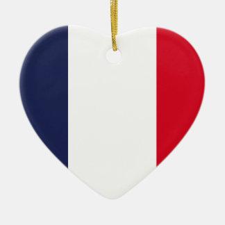 France flag ceramic ornament
