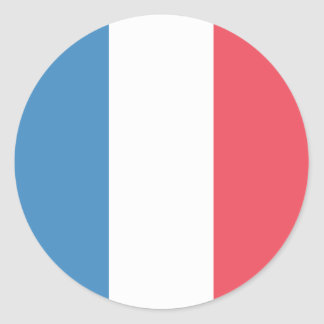 France Flag Classic Round Sticker
