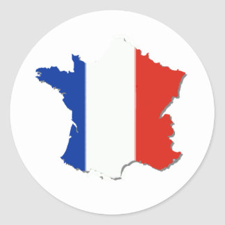 France Flag Colors Round Sticker