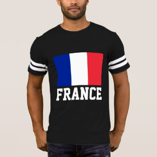 France Flag Customizable White Text T-Shirt