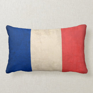 France Flag Distressed Pillow - French Cushions