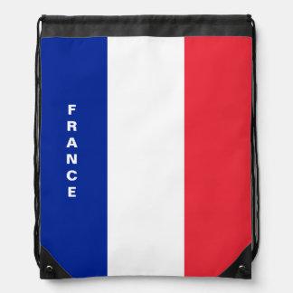 France Flag Drawstring Backpack