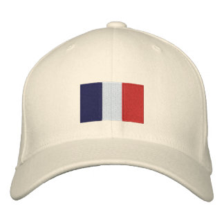 France flag embroidered flexfit wool hat