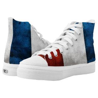 france flag grundgy sneakers