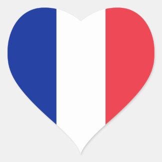 France Flag Heart Sticker