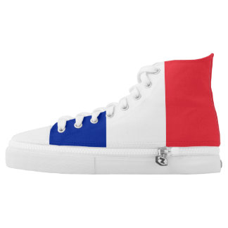 France Flag High Top Shoes