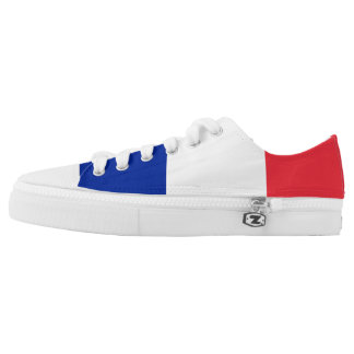 France Flag Low Top Shoes