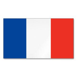 France Flag Magnetic Business Cards