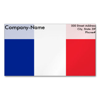 France Flag Magnetic Business Cards
