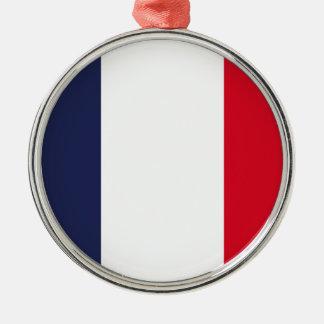 France flag metal ornament
