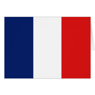 France Flag Notecard Note Card