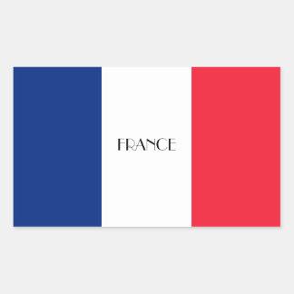 FRANCE: Flag of France Rectangular Sticker