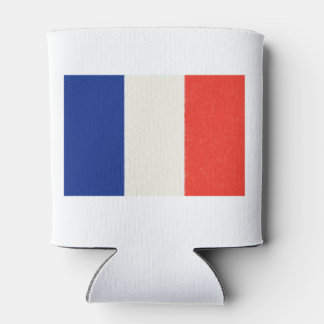 France Flag Oil Painting Can Cooler