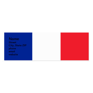 France Flag Pack Of Skinny Business Cards