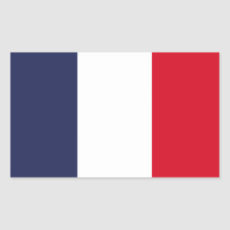 France flag rectangular sticker