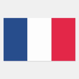 France flag rectangular sticker