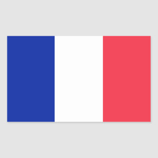 France Flag Rectangular Stickers