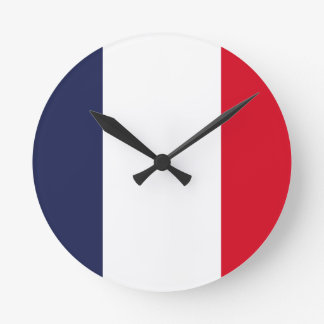 France flag round clock