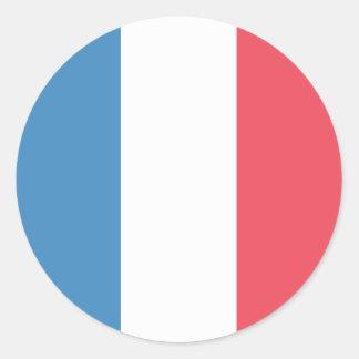 France Flag Round Sticker