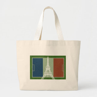 France football-Flag Large Tote Bag
